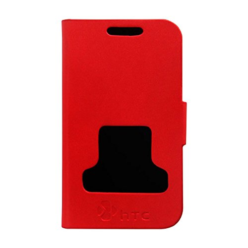 Acm Caller Id Case For Htc Desire V Mobile Table Talk Flip Cover Stand-Red  available at amazon for Rs.329