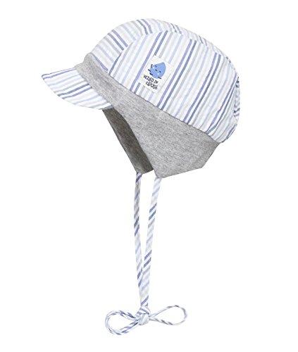 Döll Jungen Mütze Bindemütze mit Schirm 1813145659, Blau (Heather 3090), 49