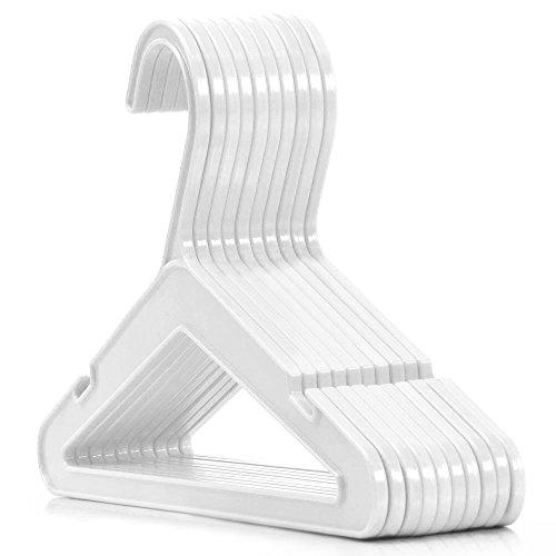 50 hochwertige Kunststoff Kleiderbügel Weiss-Transparent - Baby- und Kinderkleidung - 26 cm Hangerworld (Rainbow Kleider Für Kleinkinder)