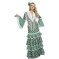 My Other Me Disfraz de flamenca giralda para mujer, color verde, M-L (Viving Costumes 203855)