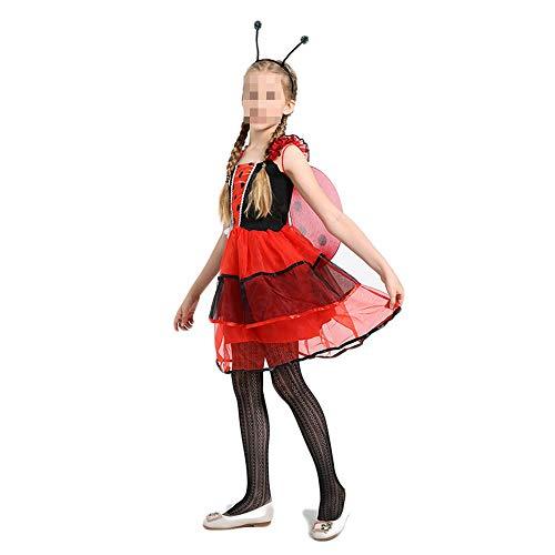 Kostüm Marienkäfer Fee - kMOoz Halloween Kostüm,Outfit Für Halloween Fasching Karneval Halloween Cosplay Horror Kostüm,Halloween Kostüm Cosplay Kinderkleidung Mädchen Hübsch Marienkäfer Fee Kostüm