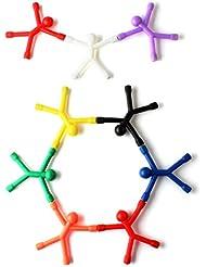OriGlam 9pcs nouveauté mini origlam q-man aimant, mignon rubber aimant les hommes aimants pour réfrigérateur jouet magnétique pour les enfants et les adultes bureau des aimants, des aimants de réfrigérateur