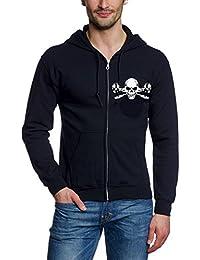 GERÜSTBAUER Sweatshirt Jacke ZIPPER, schwarz Gr.S M L XL XXL XXXL Vorne + hinten
