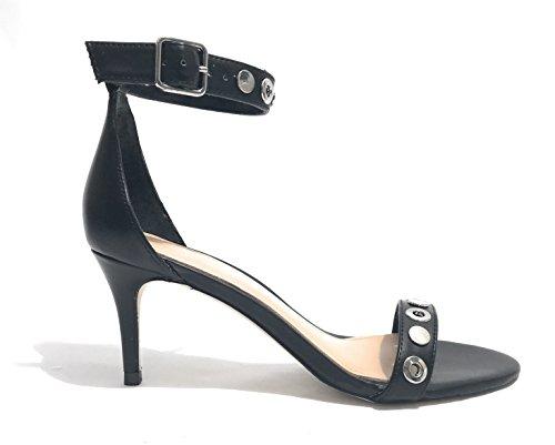 Calzature Cavigliera Indovinare Sandalo Nera Donna Vestito Pompe Oxz5wZq