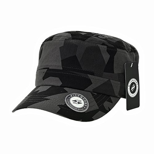 Pink Camo Scrubs (WITHMOONS Baseballmütze Army Cadet Cap Military Camouflage Pattern Star Embroidery Cotton Baseball Cap CR4924 (Black))