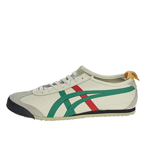 4a4db7d1fb3c0 Onitsuka Tiger Mexico 66, Zapatillas de Entrenamiento Unisex Adulto,  Multicolor (Birch/Green 1684), 44.5 EU
