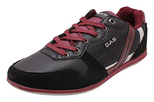 Gas Men's Red And Black Lace-up Flats