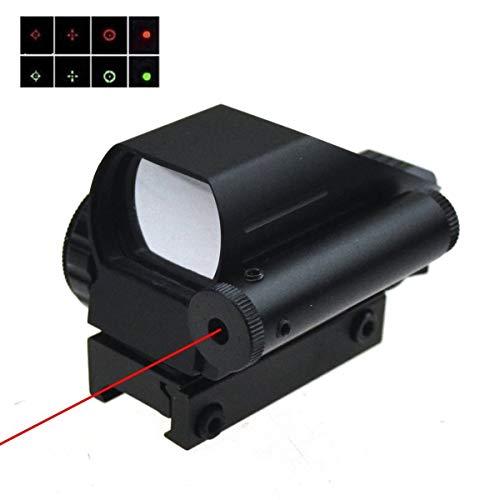 TUOFENG Tactical holographique Reflex 4 réticules Red / Green Dot Sight Portée w / curiosités laser rouge