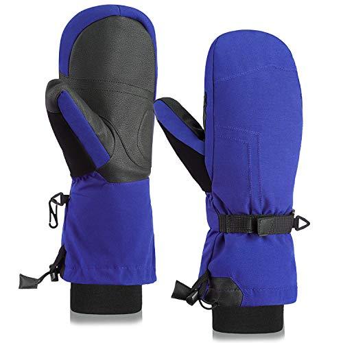Fazitrip Skihandschuhe Damen Fäustlinge Schi Handschuhe Snowboard Winter Sporthandschuhe Fausthandschuhe mit 9010 Entendaunen