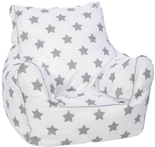 Knorrtoys Knorrtoys.COM 68210Stars Grey–Saco de Asiento Infantil