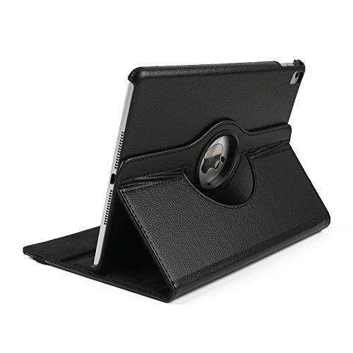Preisvergleich Produktbild Schutzhülle für Apple iPad 2/3/4 , elecfan® 360 Grad rotierend Kunstleder Schutzhülle Tasche Etui Smart Cover mit Auto Schlaf / Wach, Standfunktion für iPad 2/3/4 (iPad 2/3/4, Schwarz)