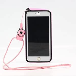 """Cozyswan élégante Coque Bumper de protection avec cordon tour de cou Corde pour iPhone 6 4,7 """"- Rose"""