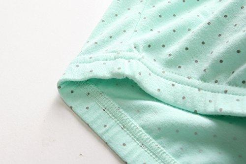 KOOYOL Damen Bio-Baumwolle Schlaf Schwangerschafst Still BHs Green+Black+Gray