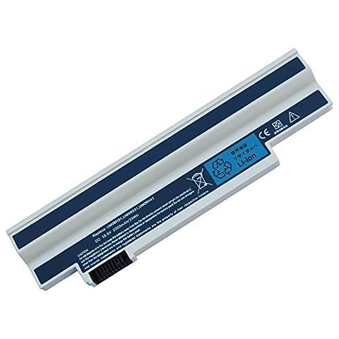 Laptop-Akku ACER Aspire one 532h all Series 10.8V 2200mAh/24Wh kompatibel mit Acer Aspire One 532h | 532h all Series | 532h-21b | 532h-21r | 532h-21s | 532h-2223 | 532h-2226 | 532h-2730 | 532h-2964 | 532h-2Db | 532h-2Dr | 532h-2Ds und part number UM09C31 | UM09G31 | UM09G41 | UM09G51 | UM09H31 | UM09H36 | UM09H41 | UM09H56 | UM09H70 | UM09H73 | UM09H75
