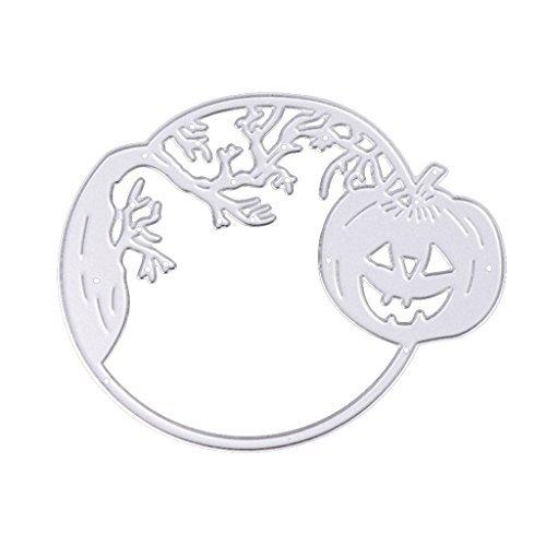 Edelstahl Schneiden sterben Schablone DIY Scrapbook Halloween Decor (Schneiden Sie Halloween Kürbis Muster)