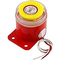 DC 24V con cable continuo sonido de alarma electrónica zumbador Rojo Amarillo BJ-1K