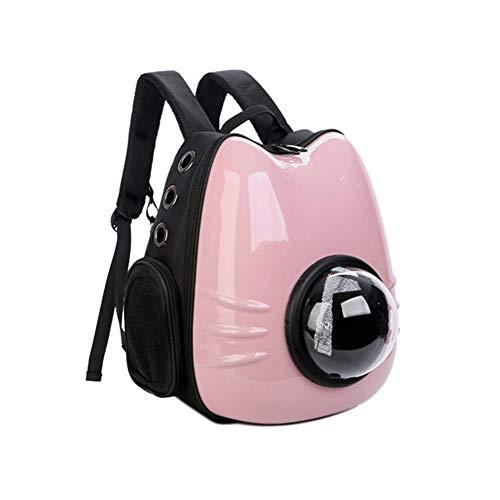 Pet-Paket, Raum Haustier Kabine voll transparent Katze Rucksack heraus Katze tragbaren Laptop, 44X25X28cm Leicht zu tragen (Color : Pink) -