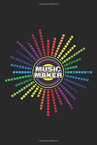 Music Maker: DJ House Musik Techno Beat Frequenz  Notizbuch liniert DIN A5 - 120 Seiten für Notizen, Zeichnungen, Formeln | Organizer Schreibheft Planer Tagebuch (Tagebuch Maker)