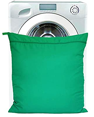 Pet Laundry Bag for Washing Machine by Petwear | Keeps Dog, Cat and Horse Hair Inside | Works with Soft Toys, Towels, Mats and Bedding (Green) - inexpensive UK light store.
