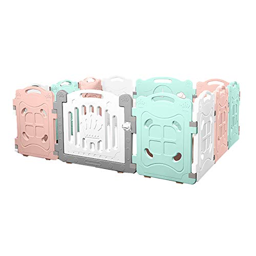 12 Panel Baby Playpen Children's Home Non-Slip Safety Toddler Crawling Game Play Pen Baby Indoor Environmental Fence -70cm  HYDTSH