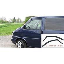2 deflectores de viento para furgoneta Volkswagen VW T4 1990-2003 Transporter Caravelle Eurovan protección