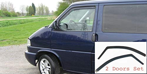 2x Windabweiser kompatibel für VW Volkswagen T4 1990 1991 1992 1993 1994 1995 1996 1997 1998 1999 2000 2001 2002 2003  Premium Qualität Acrylglas PMMA Regenabweiser Abweiser