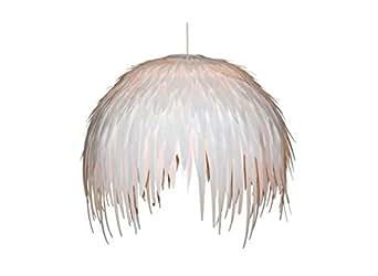 Suspension avec plumes PLUMI Blanc