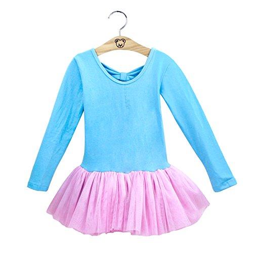 Kinder Lateinamerika Tanz Kleidung Ballett Garn Rock Mädchen Princess Skirt Praxis Bekleidung Tisch Kostüme , blue , (Tanz Lyrische Mit Flügeln Kostüme)