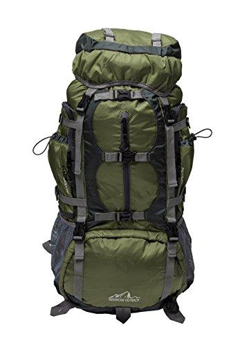 American Outback Gletscher interne Rahmen Wandern Rucksack, AB-0747-Green, grün, 60 L US -