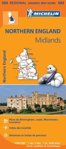 Carte Angleterre Nord, Midlands Michelin par Collectif MICHELIN