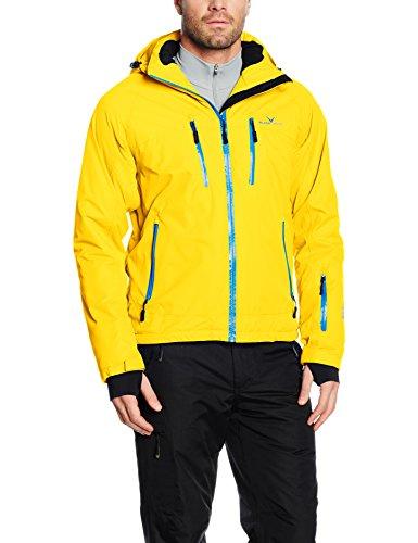 Black Crevice Herren Ski- und Snowboardjacke, gelb/blau, 50, BCR251003