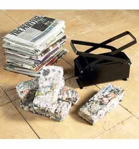 Briquette / Log Maker(613) Turn newspapers into fuel ideal for bbq, open fires.