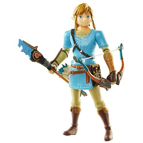 World of Nintendo Link Figur - bewegliche Spiel und Sammelfigur mit Bogen, Figurengröße ca 11 cm