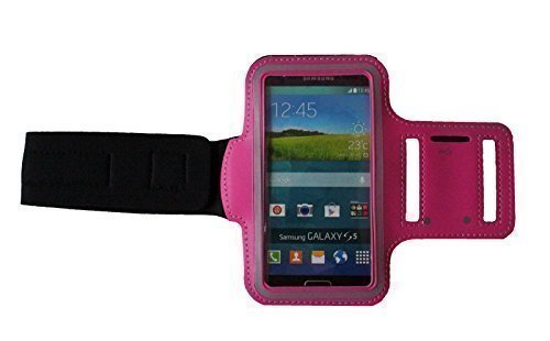 Dealbude24 Dunkel-Pink S Sport Armband Schutz Hülle für Samsung Galaxy S3 Mini und S4 Mini,Case veränderbarer Länge, Rennen, Workout, Wandern, Fitness und Laufen mit Kopfhöreranschluss aus Neopren - S3 Galaxy Armee-samsung Case