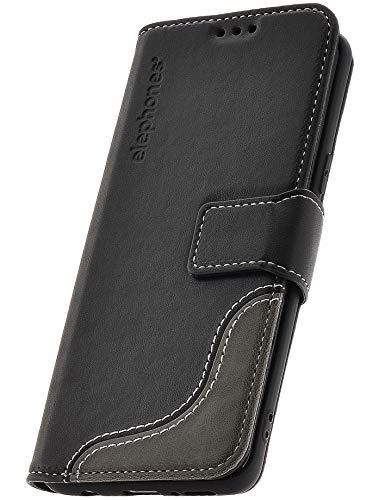 elephones® Handyhülle für Samsung Galaxy S9 Plus Hülle - Kompatibel mit Galaxy S9+ Schutzhülle Handy-Tasche Flip Case Cover Schwarz