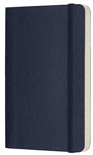 Moleskine Notebook Classic Pagina a Righe, Taccuino Copertina Morbida e Chiusura ad Elastico, Colore Blu Zaffiro, Dimensione Pocket 9 x 14 cm, 192 Pagine