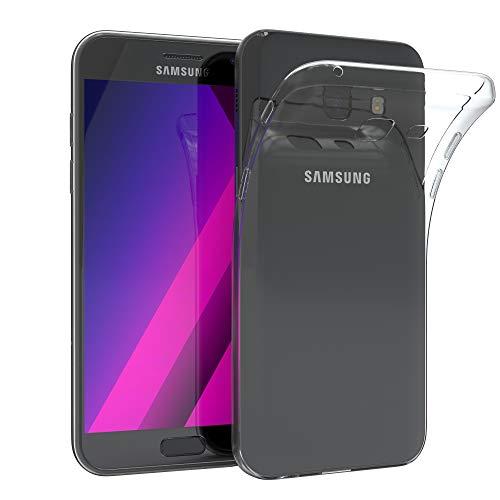 EAZY CASE Hülle für Samsung Galaxy A5 (2017) Schutzhülle Silikon, Ultra dünn, Slimcover, Handyhülle, Silikonhülle, Backcover, Durchsichtig, Klar Transparent (Samsung Galaxy A5 Slim Case)