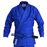 Valor Bravura Classic Plain BJJ GI with a Free White Belt (Blue, A2)