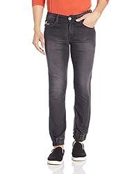 John Players Mens Slim Fit Jeans (8907349013987_ZCMWJNA160084_28W x 36L_Jet Black)
