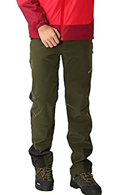 Softshell Trousers Men's Waterproof Windproof Fleece Lined Trousers Outdoor Walking Hiking Climbing Pants by HAINES