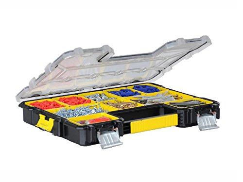 Stanley FatMax Werkzeug-Profi-Organizer (44,6 x 7,4 x 35,7 cm, Organizer mit herausnehmbaren Boxen und Metallschließen, wasserdicht, stabiler Koffer mit flachen Fächern) 1-97-517 Organizer-tool-box