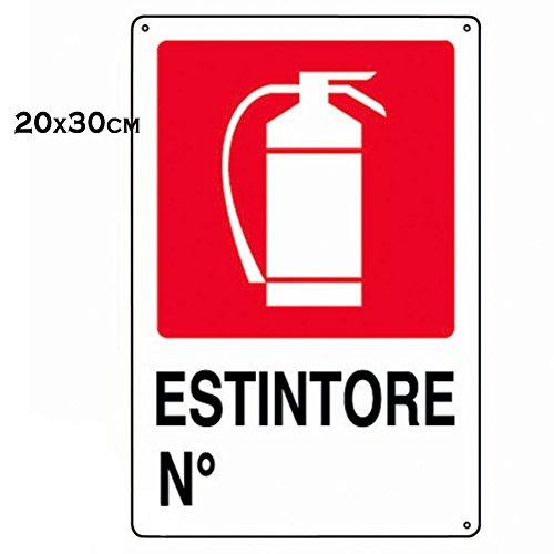Cartello Segnaletico - Estintore - 30cm x 20cm