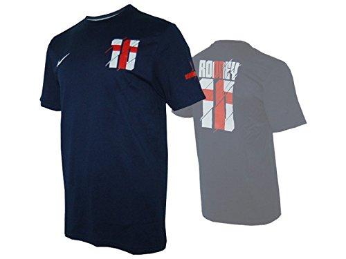 Nike England Hero #10 Rooney Tee Fan Shirt Three Lions dunkelblau -