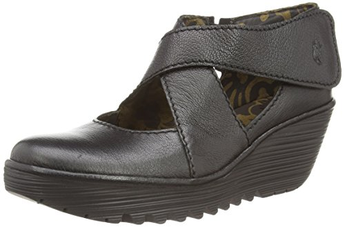 Fly London Yogo, Scarpe col tacco Donna, Porpora (Purple Patent), Black Mousse, 42