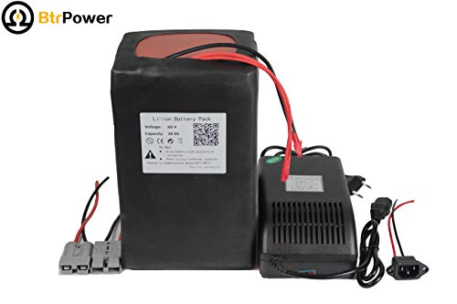 60v 30ah Ebike Batterien für 2000W Elektro-Roller, Lithium-Ion Akku mit 5A-Ladegerät BMS (1500w Elektro-roller)