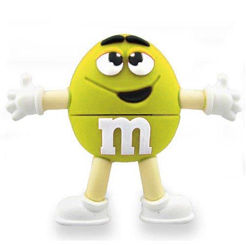 08 Hi-Speed 2.0 USB-Sticks 8GB Lustige Schokolade M 3D gelb (Kunststoff-schokoladen-bonbons)