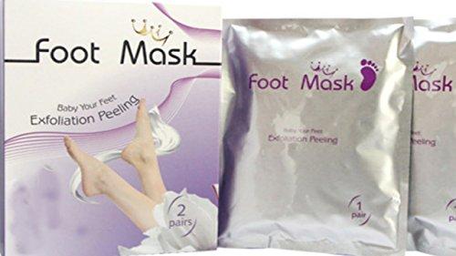 foot mask Fussmaske zur Hornhautentfernung, Fußpeeling, Peeling- Maske, 2 Paar