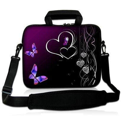 Sidorenko Notebooktasche mit Zubehörfach und Schultergurt für Größe 38 cm x 28 cm Laptops ( 15 - 15,6 Zoll ) neopren / Hülle / Laptop-Tasche / MacBook-Tasche / Computer-Tasche / Netbook-Tasche / Ultrabook-Tasche / Schutz-hülle