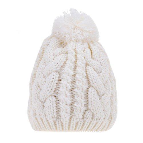 Surker Femmes Crochet Knit Slouchy Handmade Beanie Winter Ski chaude Chapeau caf¨¦
