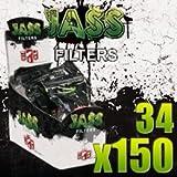 Lot de 34 sachets de 150 filtres acétane cigarette roulée JASS 6mm 5 style (style...